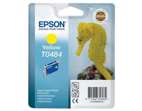 Tinte Epson C13T04844010 yellow, 13ml zu Stylus Photo R200/R300/RX500, 430 Seiten