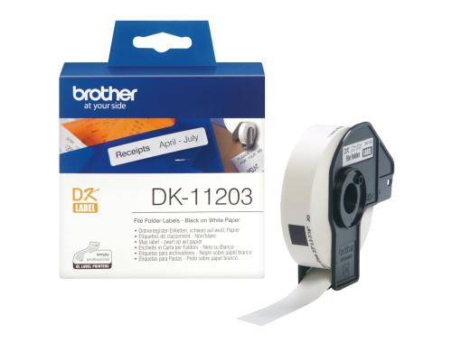 Brother P-touch DK-11203 Ordner/Register Etiketten 300Stk./Rolle 17x87mm