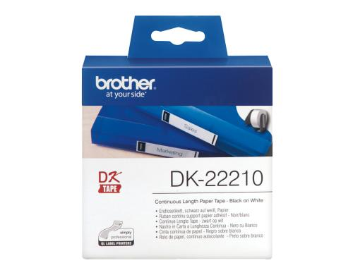 Brother P-touch DK-22214 Endlos-Etiketten Papier 12mm x 30.48m