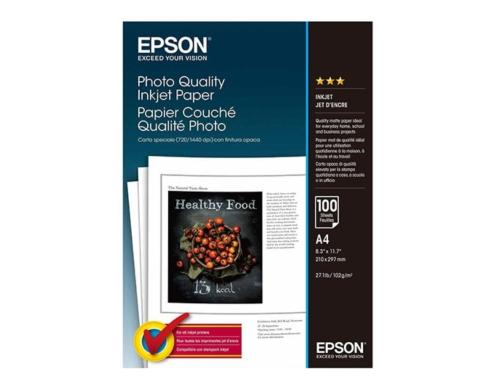 Epson Photo Quality Inkjet Paper A4 102g, 100 Blatt, S041061