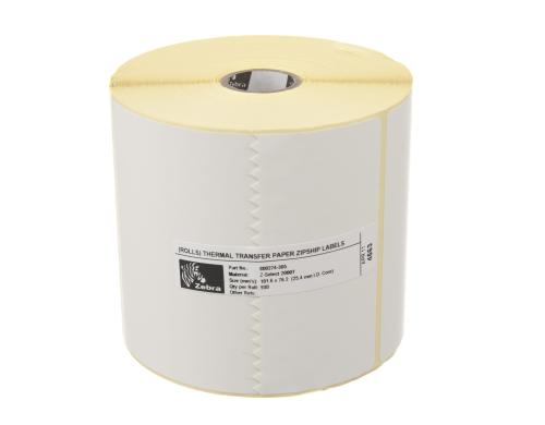Zebra Etikette Thermo Transfer, 102x76mm 1 Rolle, Z-select 2000T