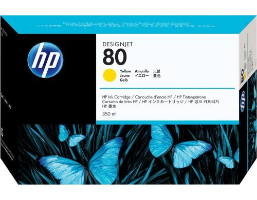 HP Tinte Nr. 80 - Yellow (C4848A) Tintenvolumen 350ml