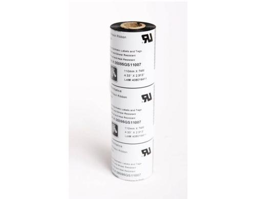 Zebra Farbband für Thermo Transfer, 110mm High Performance Resin, 12.7mm Core, 74m,