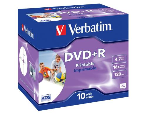 Verbatim DVD+R Medien 4.7GB,16x,10er Pack Wide printable Surface / Jewel Case