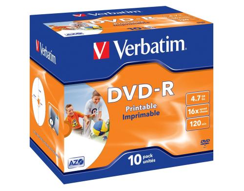 Verbatim DVD-R Medien 4.7GB,16x,10er Pack Wide printable Surface