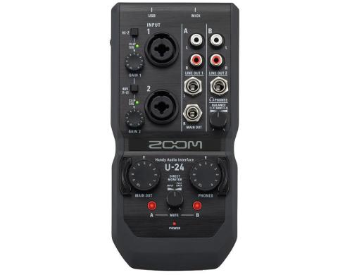 Zoom U-24 USB 2.0 Audiointerface, 2IN x 4OUT