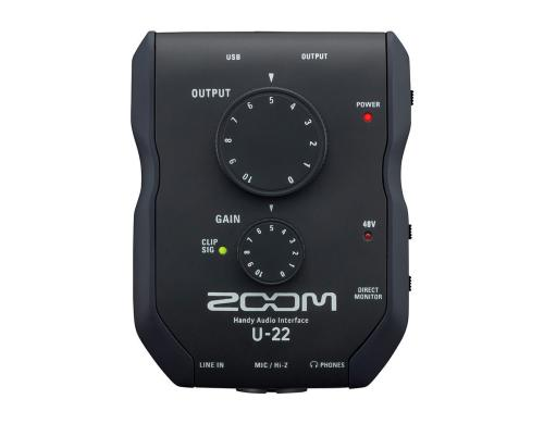 Zoom U-22 USB 2.0 Handy-Audiointerface, 2IN x 2OUT