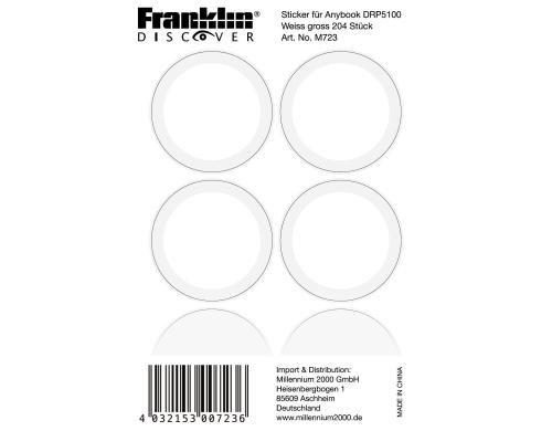 Franklin Sticker gross für AnyBook DRP-5100 204 Stück