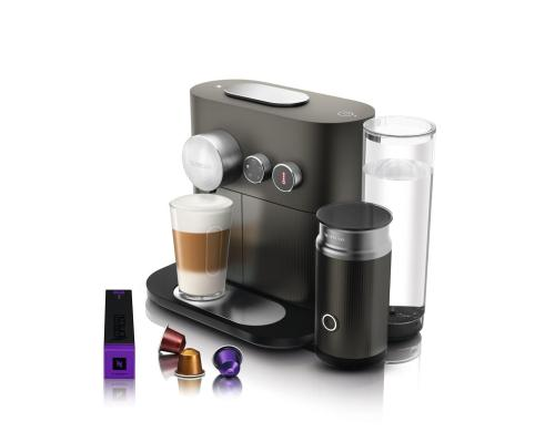 DeLonghi Nespressomaschine Expert&Milk 1700 Watt, 19 bar, anthrazit