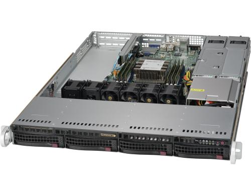 Supermicro 5019P-WTR: Xeon Scalable bis 768GB RAM, 4x 3.5 Hotswap, red NT, 10G