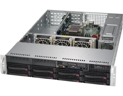Supermicro 5029P-WTR: Xeon Scalable bis 768GB RAM, 8x 3.5 Hotswap, red NT, 10G