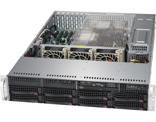 Supermicro 6029P-TR: 2x Xeon Scalable bis 2TB RAM, 8x 3.5 Hotswap, red NT