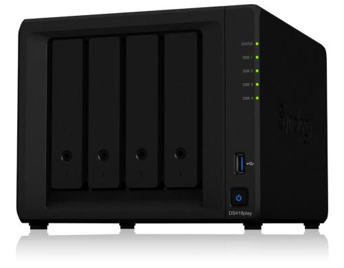 Synology DS418play, 4-bay NAS ohne Harddisk