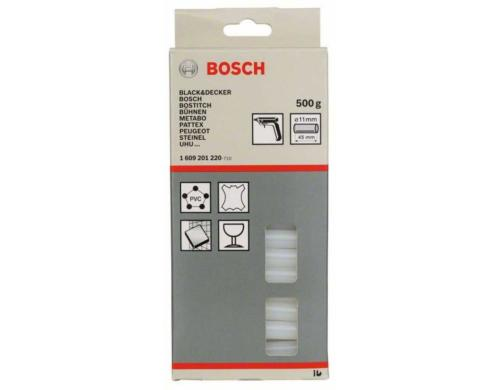BOSCH Klebesticks, transparent 500g Klebesticks à 45mm