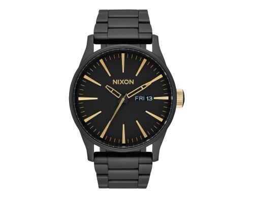 Nixon Sentry SS Matte Black Gold Herrenuhr, 42mm