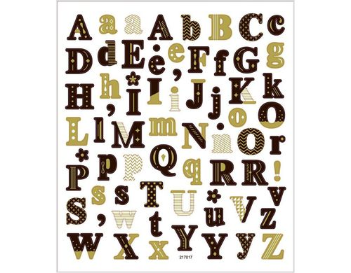 Creativ Company Sticker ABC ca 68 Sticker,  Blatt 15 x 16.5 cm