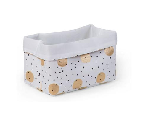 Childhome Canvas Box Gold dots 32x20x20cm