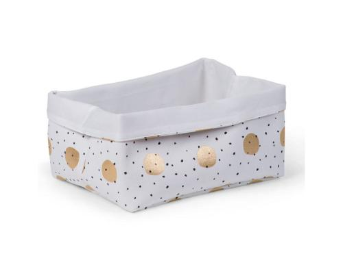 Childhome Canvas Box Gold dots 40x30x20cm