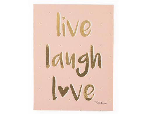 Childhome Leinwandbild live laugh love 30x40cm