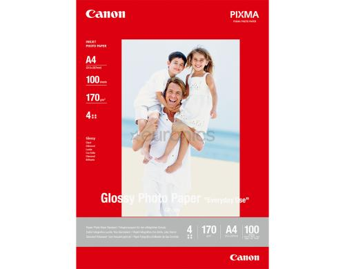 Canon Glossy Photo Paper A4 InkJet Everyday, 200g, 100 Blatt