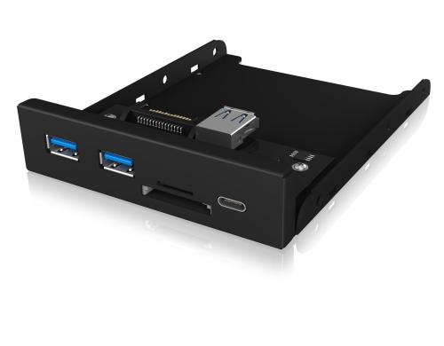 ICY BOX USB 3.0/2.0 Hub +SD Front Panel Frontpanel mit US 3.0 Type-C/Type-A/SD-CR