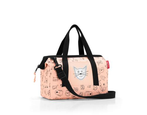 Reisenthel Schultertasche allrounder xs kid cats and dogs rose, 5 l, 27 x 21 x 12 cm