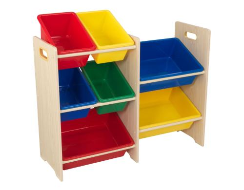 KidKraft Regal mit 7 Boxen Nature/Farbig