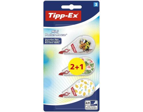 Tipp-Ex Mini Pocket Mouse 2 + 1, 6 M x 0.5 mm