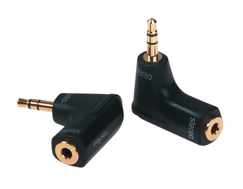 Die Hard Audio Adapter Jack/Jack gewinkelt 3.5mm Stereo Buchse / 3.5mm Stereo Klinke